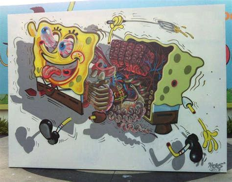 Mickey Mouse Wall Murals famous cartoon character spongebob squarepants is