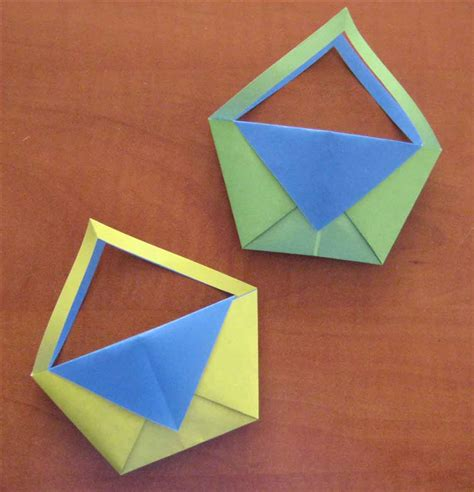 How To Fold A Basket Out Of Paper - how to fold an origami basket origami for