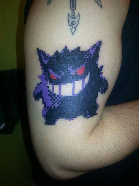 gengar tattoo gengar arm gastly haunter gengar gengar