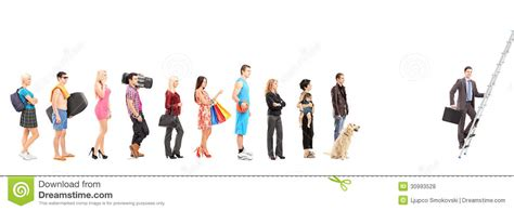 Row House Plans Full Length Portraits Of People Waiting In A Line And A