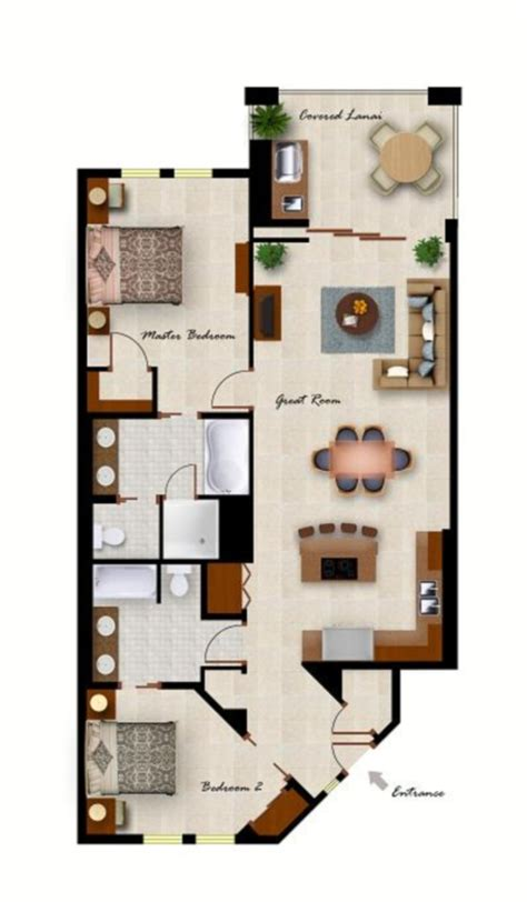 Small Condo Floor Plans by Kolea Floor Plans