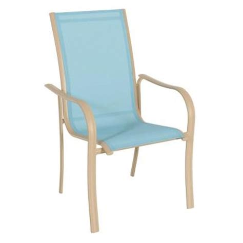 Stackable Patio Chairs Home Depot by Miami Stack Blue Patio Chair Fca60051 Blue The Home Depot