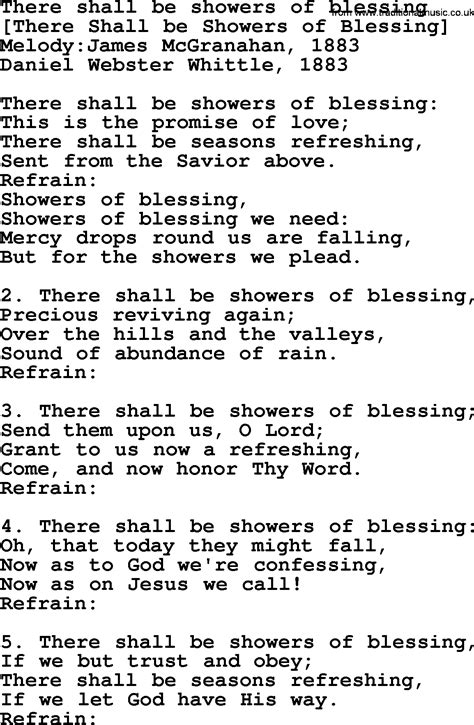 Wedding Blessing Hymns by Showers Of Blessings Hymn Best Image Wallpaper