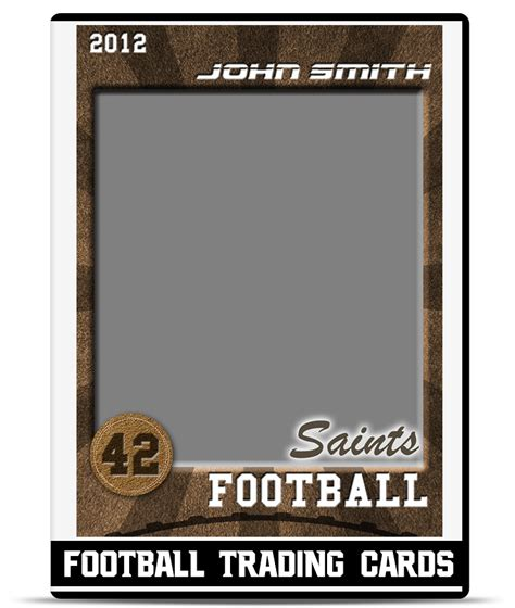 football card template football trading card template teamtemplates