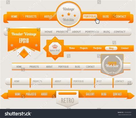 vector menu header design stock vector 125392952