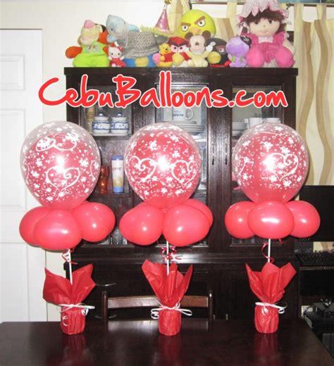 Wedding Cebu Balloons And Party Supplies Balloons On Sticks Centerpiece