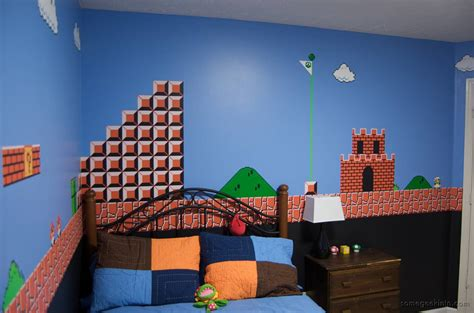 mario brothers bedroom room mario mural boing boing