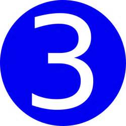 3 Gallery For Gt The Number 3 In Blue