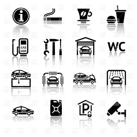 gas station clip art and stock illustrations 6900 gas roadside and gas station services icons royalty free