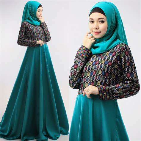 Melvina Set Songket Busana Muslim Setelan Atasan Dan Rok Songket baju muslim batik model tunik modern muslim modis foto 2017