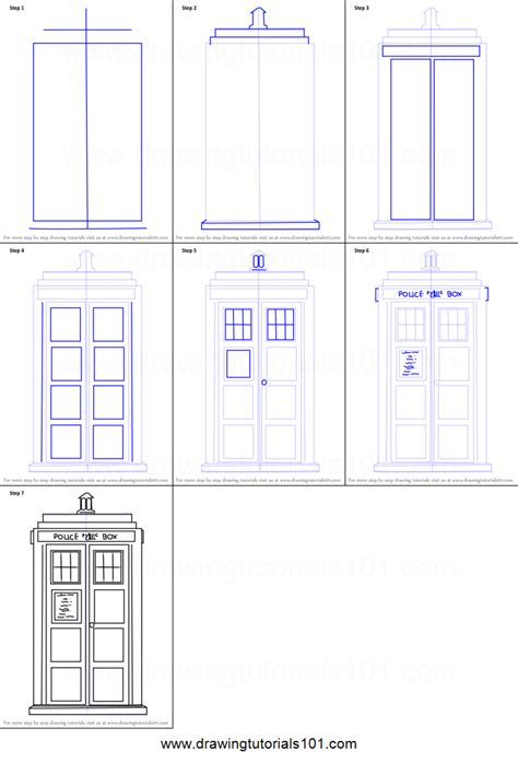 how to a step by step pics for gt tardis drawing tutorial