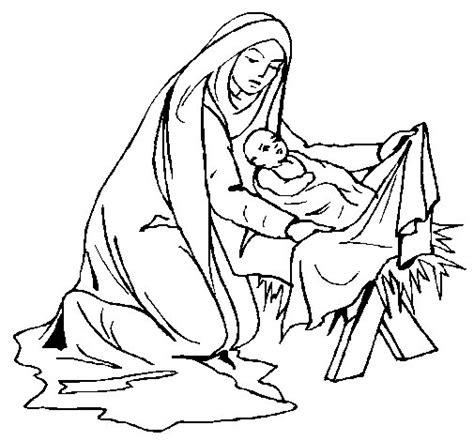 imagenes del nacimiento de jesus a color dibujo de nacimiento del ni 241 o jes 250 s para colorear