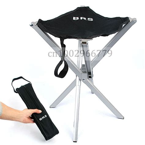 Small Folding Stool by Outdoor Aluminum Alloy Ultralight Portable Folding Stool