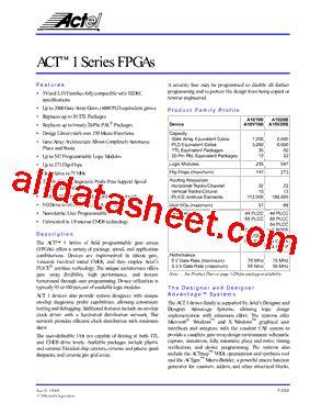 a1020 transistor equivalent a1020 datasheet pdf actel corporation