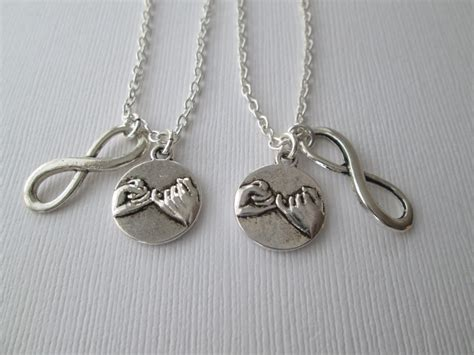best friend necklace best friend gift 2 promise