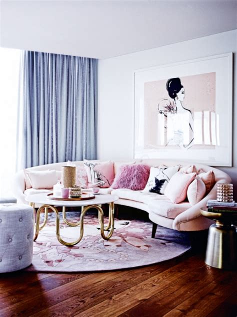 pink and gold living room shop the room archives shoproomideas