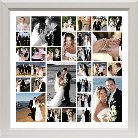photo montage for wedding personalised wedding photo montage by the wonderwall print