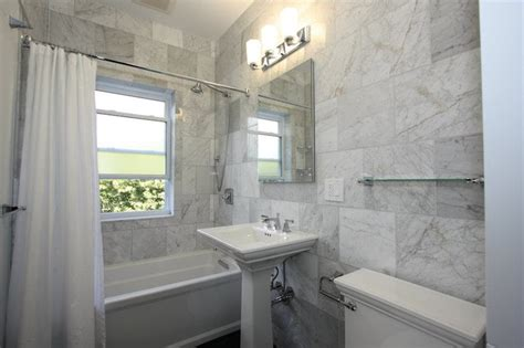 white marble bathroom ideas gray subway tile contemporary bathroom urrutia design