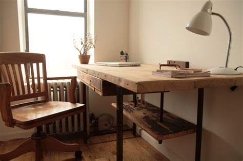 Modern Stand Up Desk Industrial Reclaimed Wood Stand Up Desk Modern Desks And Hutches New York By Coil Drift