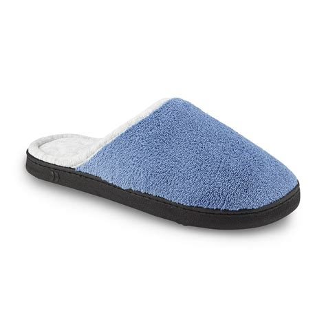 wide slippers isotoner s chukka wide width clog slipper blue