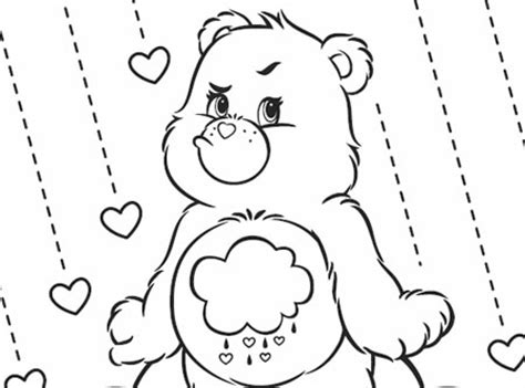 coloring pages of grumpy bear grumpy day care bears activity ag kidzone