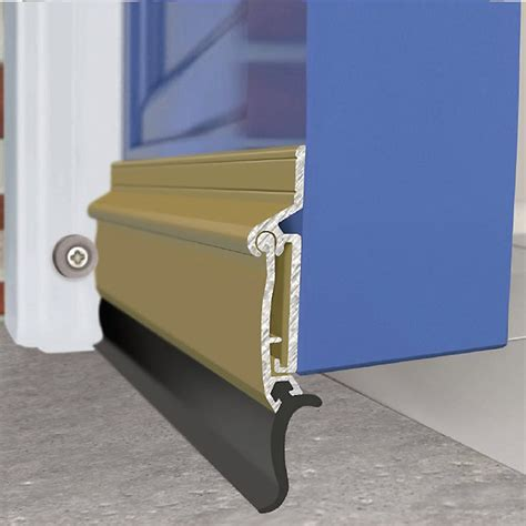 Exitex Auto Seal Threshold Draught Excluder Weather Bar Exterior Door Draught Excluder