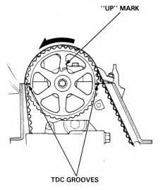 1995 honda accord timing belt marks