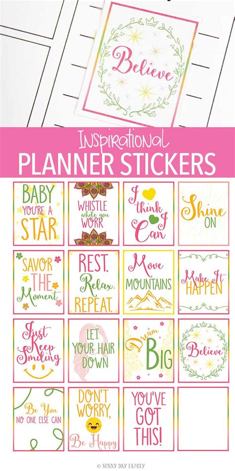 free printable planner quotes free printable inspirational quote planner stickers for