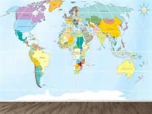 world map wallpaper murals esdesign wallpaper wednesday world maps