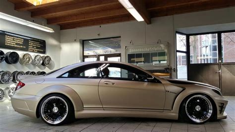 matt mercedes tuningcars chagne matt mercedes cl by folienwerk
