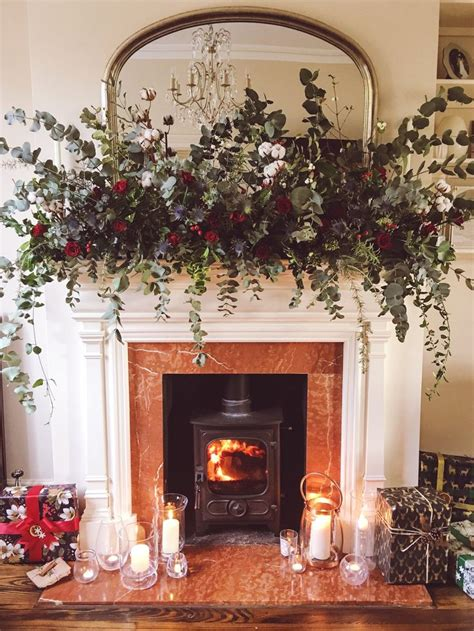 garland for fireplace best 25 fireplace garland ideas on