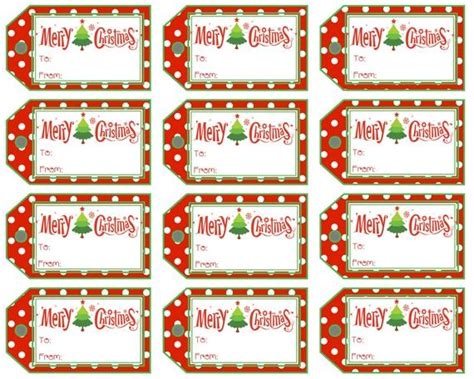 christmas gift tags merry christmas polka dot  stripe