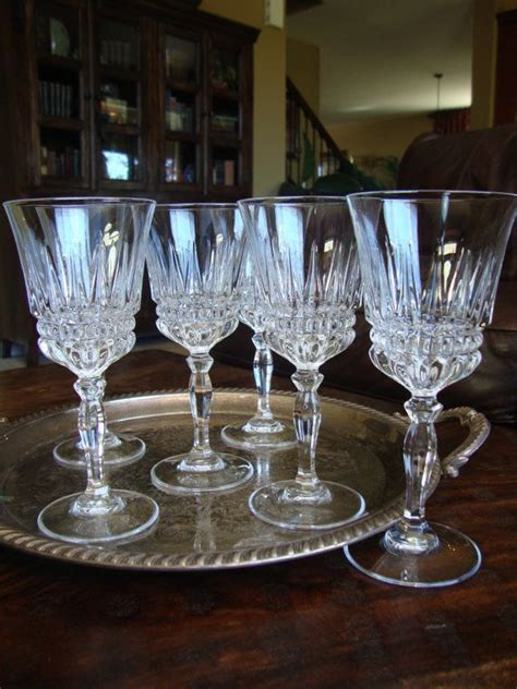 lead crystal barware set of 6 lead crystal wine glasses stemware cut stem