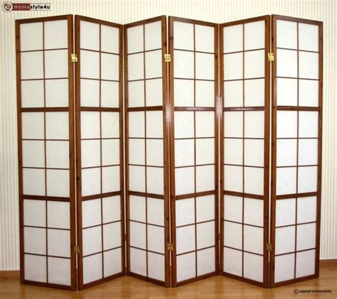 Japanese Room Divider Uk 6 Part Wood Room Divider Shoji Screen Paravent Wall In Tobacco New Nl Pinterest Shoji