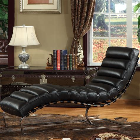 Leather Chaise Lounge Chair Design Ideas Furniture Living Room Black Leather Chaise Lounge Chairs