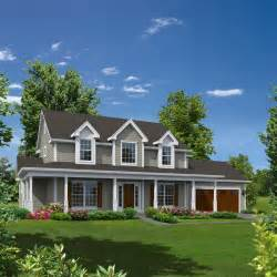 Two Story House Plans With Front Porch by Grace Country Home Colonial House Plans Grace O Malley