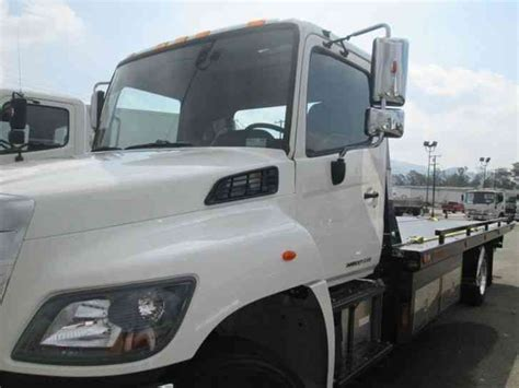 tow truck bed hino 258alp tow truck 21ft jerrdan flatbed bed air ride under cdl 2015