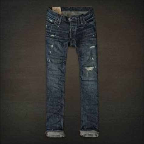 Joger Ripped Navy 3 4 hollister mens my style s