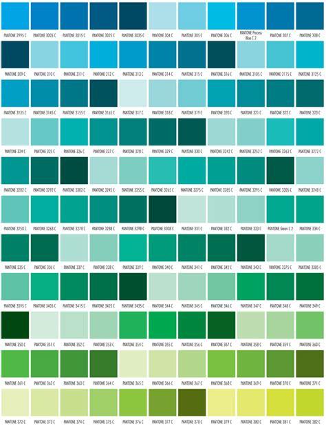 Pantone color chart