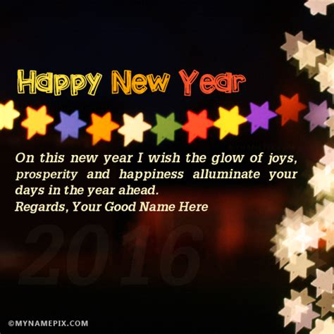 write your name on new year wish picture in beautiful