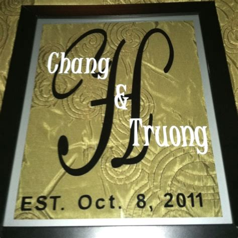 Vinyl Wedding Gift Ideas by 71 Best Vinyl Ideas Name Frames Images On