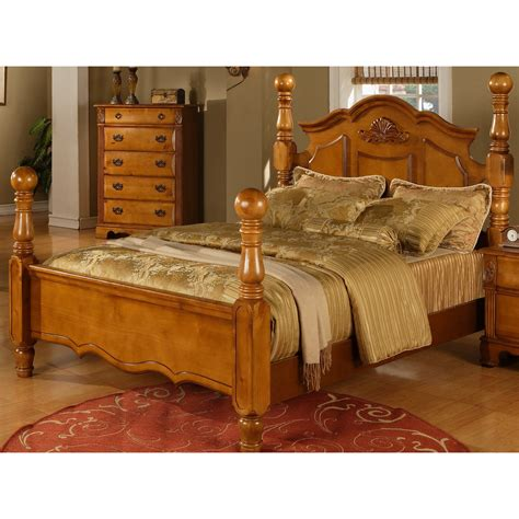 honey pine bedroom furniture sunset trading ss by100 q bed bryant queen bed in honey