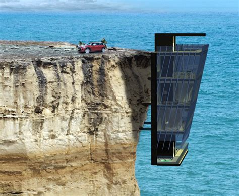 Small Home Design Inside by Modular Cliff House Hangs Perilously Over A Cliff S Edge