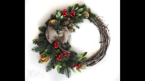christmas items you tube wreaths diy decorations how to make a wreath diy wreath tutorial