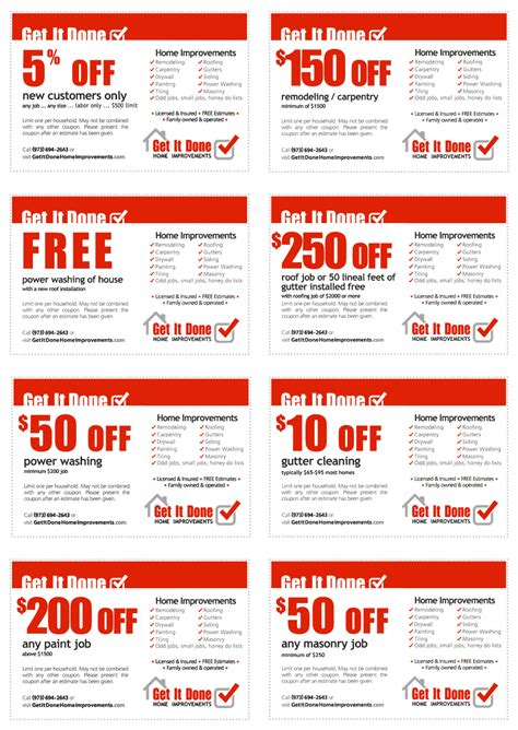 special offers discounts and coupons get it done home