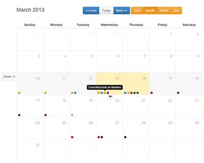 Bootstrap Calendar Bootstrap Based Full View Calendar Jquery Plugins Bootstrap Calendar Template