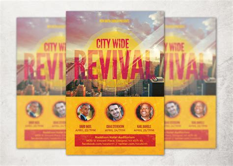 free church revival flyer template evangelism flyer archives inspiks market