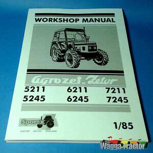 Wsm8920 Workshop Manual Zetor 5211 5245 6211 6245 7211
