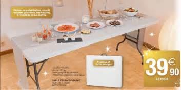 carrefour promotion table festive pliable produit