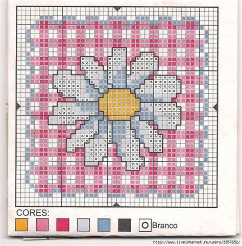 guid pattern xsd cross stitch daisy biscornu no color chart available